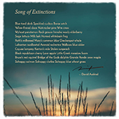 song of extinctions