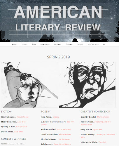 american literary review spring 2019