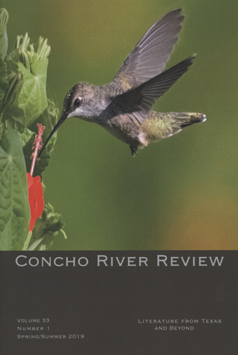 concho river review v33 n1 spring summer 2019