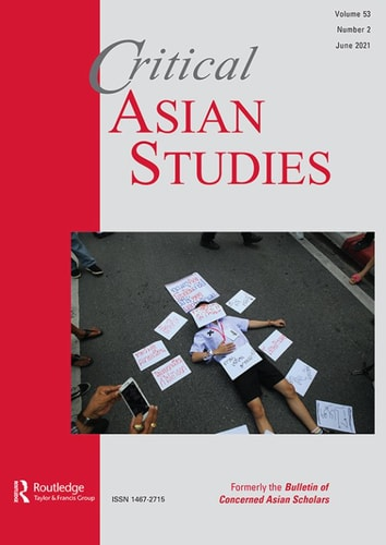 Critical Asian Studies cover