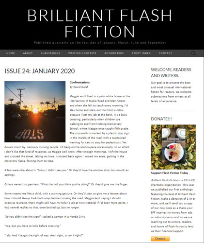 brilliant flash fiction january 2020